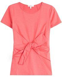 Paule Ka - Belted Cotton T-shirt - Lyst