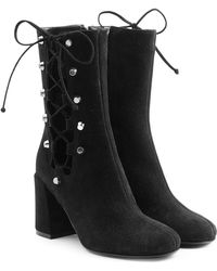 McQ - Suede Boots With Lace-up Sides - Lyst