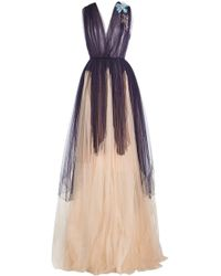 Delpozo - Floor Length Tulle Gown - Lyst