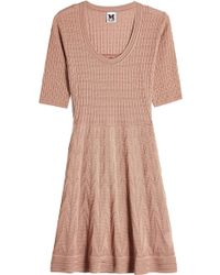 M Missoni - Knit Dress With Cotton - Lyst