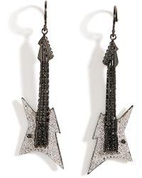 Lynn Ban - Black Rhodium Silver Guitar Earrings B In White - Lyst