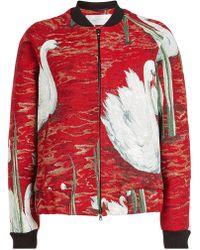 Victoria, Victoria Beckham - Raglan Bomber Jacket With Cotton - Lyst