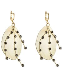 Marni | Embellished Earrings With Horn | Lyst