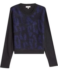 Public School - Printed Pullover With Merino Wool - Lyst