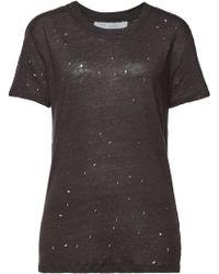 IRO - Clay Destroyed Linen T-shirt - Lyst