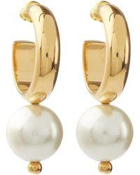 Simone Rocha - Hoop Earrings With Pearls - Lyst