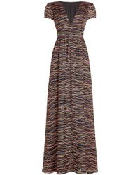DHELA - Printed Silk Dress - Lyst