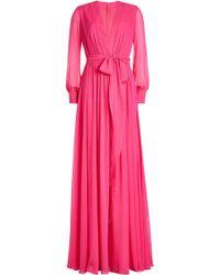 DHELA - Silk Maxi Dress - Lyst