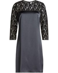 HUGO - Satin Dress With Lace - Lyst