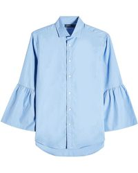 Polo Ralph Lauren - Cotton Shirt With Bell Sleeves - Lyst