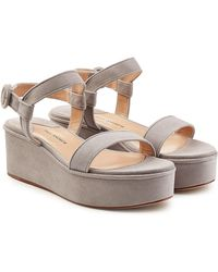 Paul Andrew - Suede Wedges - Lyst