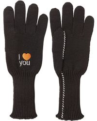 Raf Simons - Embroidered Wool Gloves - Lyst