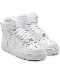 separation shoes c33fa 15de8 Nike - Air Force 1 High Leather Trainers - Lyst