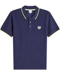 KENZO - Cotton Polo Shirt - Lyst