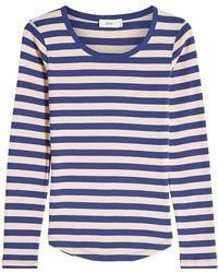 Closed - Striped Top With Cotton - Lyst