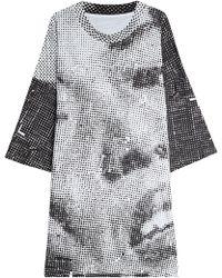 Maison Margiela - Printed Cotton T-shirt Dress - Lyst
