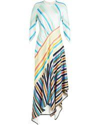 Peter Pilotto - Striped Maxi Dress With Asymmetric Hem - Lyst