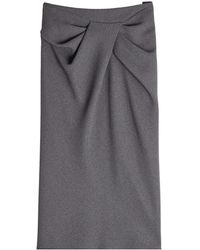 Paule Ka - Skirt With Draped Front - Lyst