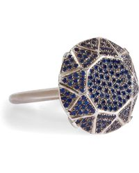 Ileana Makri - White Gold/sapphire Gem Single Solitaire Ring - Lyst
