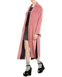 Sandy Liang | Coat With Virgin Wool And Angora | Lyst