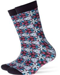 Smythson - Printed Cotton Ankle Socks - Lyst