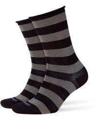 Smythson Metallic Striped Socks