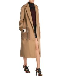 Anya Hindmarch | Ghosts Virgin Wool Coat With Shearling | Lyst