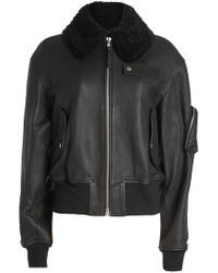 Public School | Leather Jacket With Shearling | Lyst