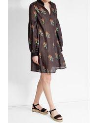 Ksenia Schnaider - Printed Linen Dress - Lyst