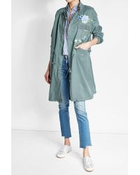 True Religion - Embroidered Parka Coat - Lyst