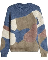 M.i.h Jeans - Camo Turtleneck Pullover With Wool And Alpaca - Lyst