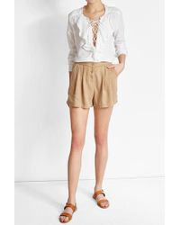 American Vintage - Buttoned Shorts - Lyst