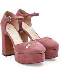 Marc Jacobs - Lucille Suede Platform Court Shoes - Lyst