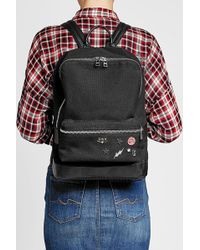Zadig & Voltaire | Embellished Fabric Backpack With Leather | Lyst