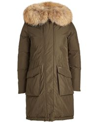 Woolrich - Military Down Parka With Fur-trimmed Hood - Lyst