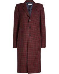 Balenciaga - Virgin Wool Checked Coat - Lyst