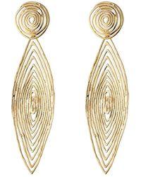 Gas Bijoux - 24kt Gold Plated Longwave Earrings - Lyst