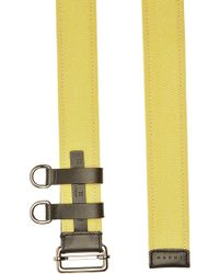 Marni - Fabric Belt With Leather - Lyst