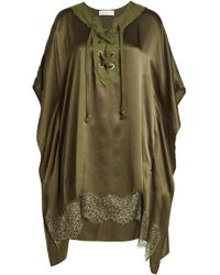 Faith Connexion - Silk Poncho With Lace - Lyst