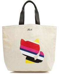 Karl Lagerfeld - K/stripes Canvas Shopper - Lyst