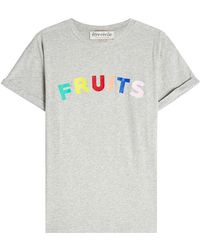 Être Cécile - Fruits Printed Cotton T-shirt - Lyst