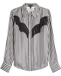 Marc Jacobs - Striped Shirt With Fringing - Lyst