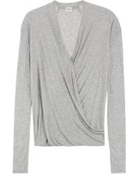 American Vintage - Draped Jersey Top - Lyst