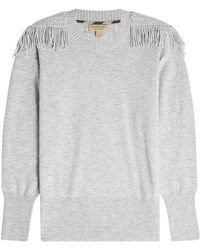 Burberry - Pullover With Wool And Cashmere - Lyst