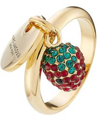 Marc Jacobs - Logo Disc And Strawberry Charm Ring - Lyst