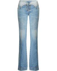 Roberto Cavalli - Geschnürte Flared Jeans im Western-Stil - Lyst