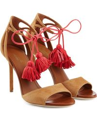 Malone Souliers - Ida Suede Sandals With Tassels - Lyst