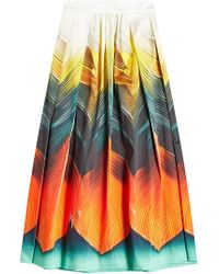 Mary Katrantzou - Printed Cotton Skirt - Lyst