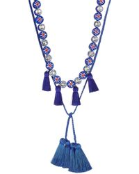 Shourouk - Sautoir Mini Tassel Necklace With Crystals - Lyst