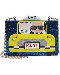 Karl Lagerfeld - Karl Nyc Taxi Box Clutch With Chain Strap - Lyst